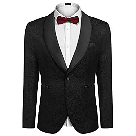 butamp; #39;s floral tuxedo dress suit slim fit jacket blazer for dinner,prom,wedding,new yearamp; #39;s party
