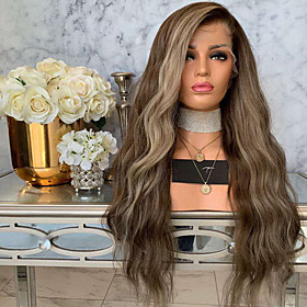 Synthetic Wig Curly Body Wave Pixie Cut Wig Long Light Brown Synthetic Hair 24 inch Women's Fashionable Design Easy to Carry Comfortable Light Brown