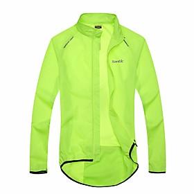SANTIC Men's Women's Cycling Jacket Bike Jacket Ultraviolet Resistant Jacket Raincoat Waterproof...