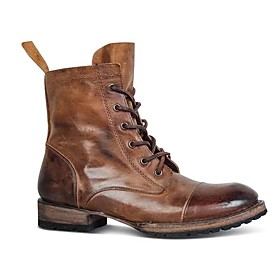 Men's Boots Work Boots Casual / Vintage Daily PU Black / Brown Fall / Winter