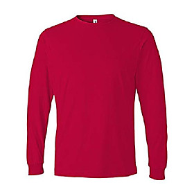 949 adult lightweight long-sleeve tee - red44; 2xl