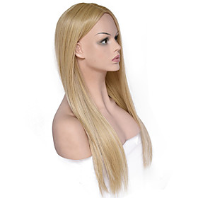 Synthetic Wig Straight kinky Straight Middle Part Wig Long Light Blonde Synthetic Hair Women's Fashionable Design Party Comfortable Blonde