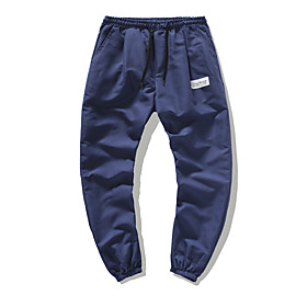 Men's Chinos Pants Solid Colored Black Orange Light gray M L XL