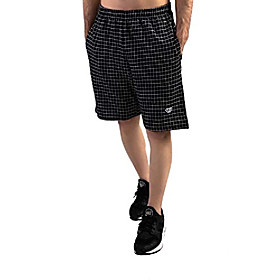butamp; #39;s shorts - patterned active wear with pockets and elastic waist amp; #40;black white plaid, xxx largeamp; #41;