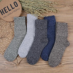 Men's Warm Socks - Solid Colored Multi color One-Size