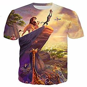 fashion t-shirt cartoon 3d digital print lions king unisex hoodie streetwear casual hooded sweatshirt[4xl/5xl]