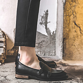 Men's Loafers  Slip-Ons Casual Daily PU Wear Proof Black / Yellow / Brown Spring / Fall