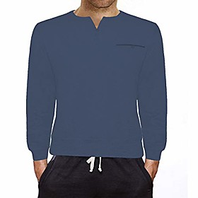 butamp; #39;s long sleeve henley t-shirts casual regular slim fit basic cotton shirts light blue 2xl