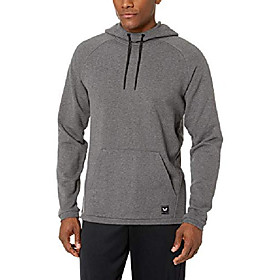 amazon brand - men's french terry pull-over athletic-fit hoodie, medium gray heather, 4x-large