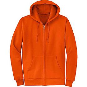 full zipper hooded sweatshirts, orange,4x-large