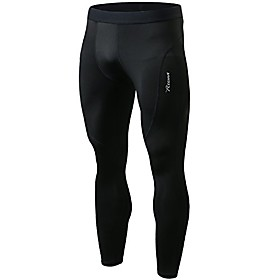 men's long compression pants - baselayer leggings tights for sports, cycling and running(black stripe, s)