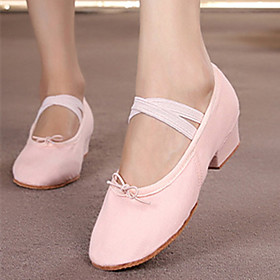 Women's Dance Shoes Ballet Shoes / Practice Trainning Dance Shoes Heel Thick Heel White / Black / Red / Performance