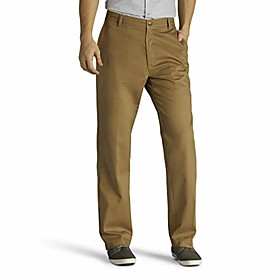 men's big and tall big amp; tall total freedom stretch relaxed fit flat front pant, khaki, 48w x 28l