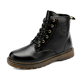 Men's Boots Classic / Vintage / British Outdoor Office  Career Microfiber Non-slipping Wear Proof Black Fall / Winter