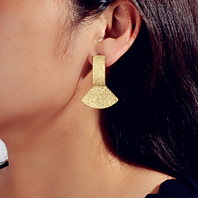Women's Drop Earrings Geometrical Fashion Earrings Jewelry Gold For Engagement Date
