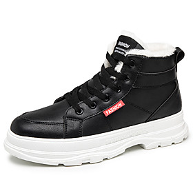 Men's Boots Classic / Vintage / British Outdoor Office  Career Microfiber Waterproof Non-slipping Wear Proof Dark Grey / Black / Light Grey Winter