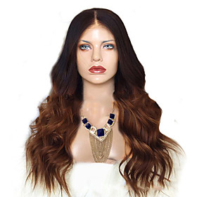 Synthetic Wig Curly Body Wave Middle Part Wig Long Black / Brown Synthetic Hair Women's Fashionable Design For European Brown