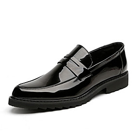 Men's Loafers  Slip-Ons Casual Daily PU Wear Proof Black / Silver / Black Spring / Fall
