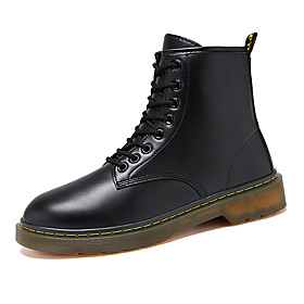Men's Boots Classic / Vintage / British Outdoor Office  Career Microfiber Non-slipping Wear Proof Black / Brown Fall / Winter