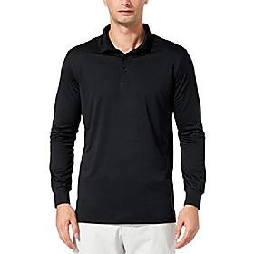 butamp; #39;s upf 50  sun protection golf polo shirt long sleeve tennis quick dry shirt performance active workout shirt blue size xxl