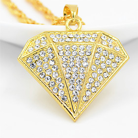 Men's Women's Clear Cubic Zirconia Necklace Long Necklace Pave European Zircon Chrome Gold 70 cm Necklace Jewelry 1pc For Street Sport Gift Masquerade Festival