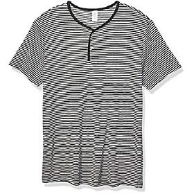 butamp; #39;s throwback henley short sleeve, eco black classic stripe, m