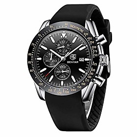 men's watches benayr chronograph analog quartz waterproof sports watches rubber strap business wrist watches for men …