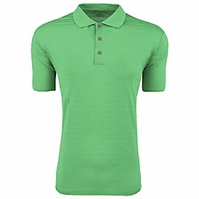 golf mens climalite textured short-sleeve polo (a161) -gecko -l