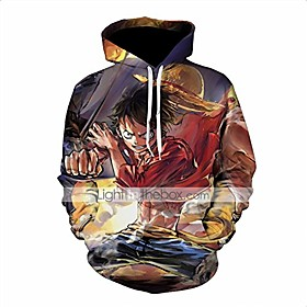 men one piece 3d print pullover hoodie sweatshirt with front pocket(color 1, tag 3xl/us xxl)