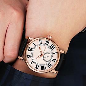 Men's Sport Watch Quartz Vintage Style Modern Style Casual Chronograph Analog White / PU Leather