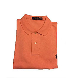 butamp; #39;s pony logo interlock polo shirt amp; #40;orange heather, xx-largeamp; #41;