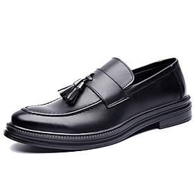 Men's Loafers  Slip-Ons Casual Daily PU Wear Proof Black / Brown Spring / Fall