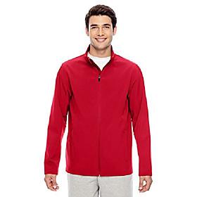men's leader soft shell jacket, xs, sport red