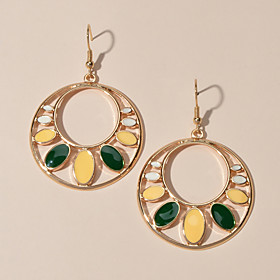 Women's Drop Earrings Hollow Out Romantic Earrings Jewelry Gold For Date Festival