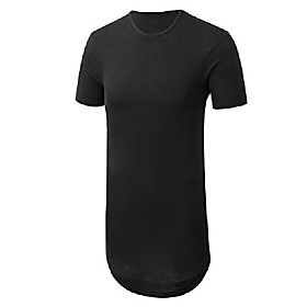 men's basic hipster longline drop tail t-shirts 2xl black