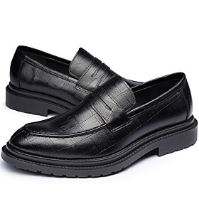 Men's Loafers  Slip-Ons Business Daily PU Wear Proof Black Spring / Fall