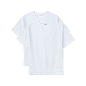 men's big amp; tall 2-pack short-sleeve v-neck t-shirts fit by dxl, white, 3xlt