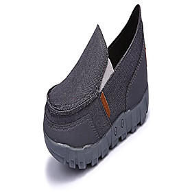 men's canvas slip-on casual loafers moccasin driving shoes grey