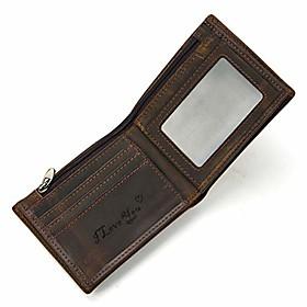 men's leather short bifold wallet engraved wallet for men, for son, grandson, husband, dad (style 1)