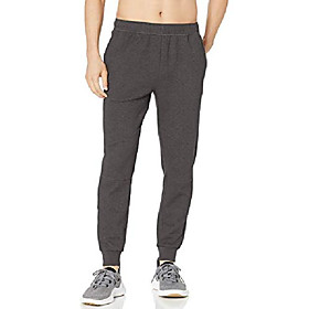 amazon brand - men's mid-town lightweight tech fleece jogger, grey, small