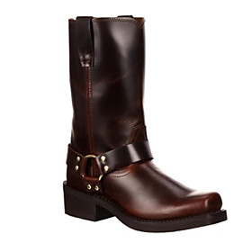 Men's Boots Casual Daily Leather Booties / Ankle Boots Brown Fall
