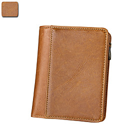 Men's Bags Cowhide Wallet for Daily Brown / Coffee