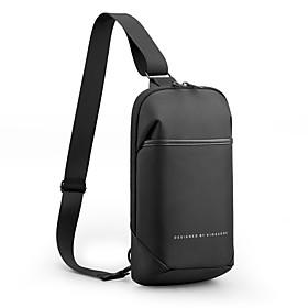 Men's Bags Oxford Cloth Sling Shoulder Bag Zipper for Daily / Outdoor Black