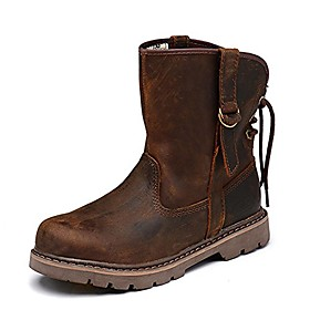 men's leather harness boot (8 us, horse brown)