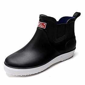 men's outdoor waterproof shoes short ankle rain boots black label size 41-255mm - us 7.5