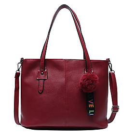Women's Bags PU Leather Bag Set 2 Pieces Purse Set Zipper for Daily Black / Blue / Red / Bag Sets