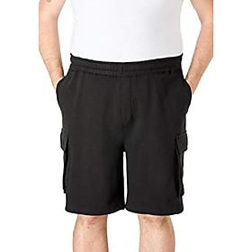 butamp; #39;s big amp; tall fleece 10 cargo shorts - big - 8xl, olive marl