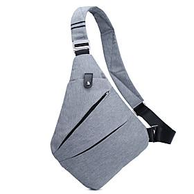 Men's Bags Oxford Cloth Sling Shoulder Bag Zipper for Daily / Outdoor Black / Light Gray / Dark Blue