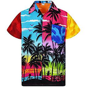 funky hawaiian shirt, shortsleeve, mondy beach, multicoloured, 5xl
