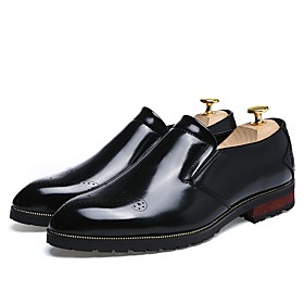 Men's Loafers  Slip-Ons Casual Daily PU Non-slipping Wine / Black / Silver Fall
